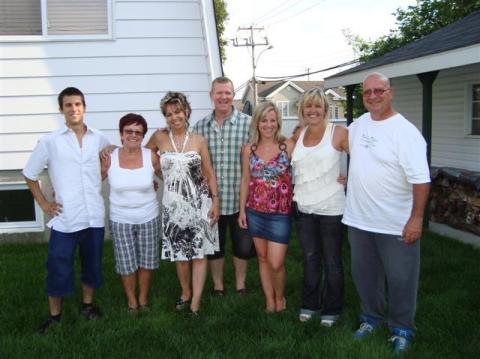 Marco, Jacqueline, Mylène, Jocelyn, Isabelle, Jackel et Michel le 6 août 2011 chez Jocelyn.