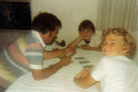 Yvon, Marco et Jocelyn. Photo prise en août 1977.